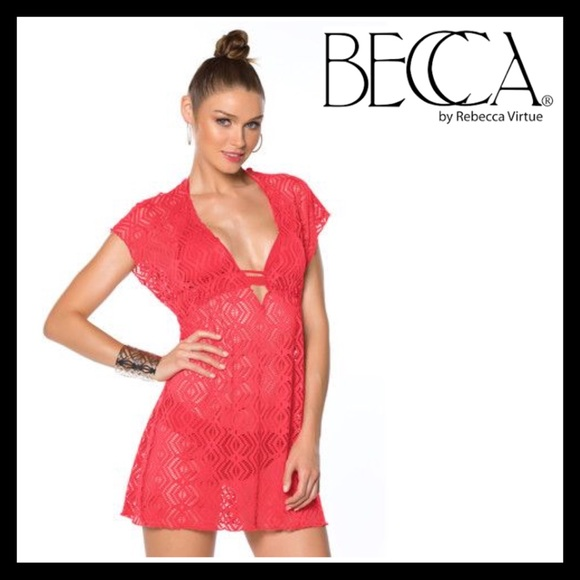 e8a926bc2b BECCA Swim | By Re Virtue Just A Peak Coverup | Poshmark